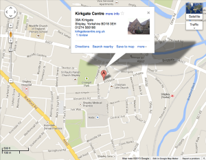 The location of the Kirkgate Centre