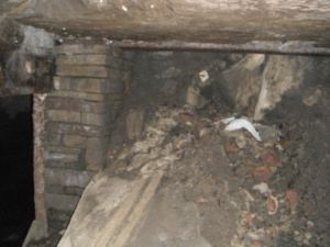 Part of the culvert under the Odeon