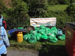 The rubbish we found.