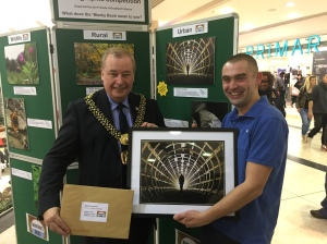 Martyn Sutcliffe - Winner in all three Urban categories receiving his prize from Lord Mayor MIke Gibbson